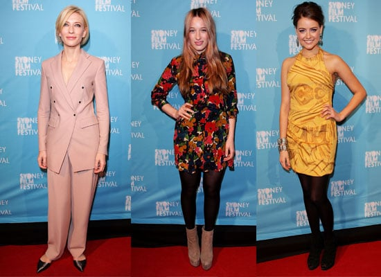 Pictures of Celebrities at the 2011 Sydney Film Festival Opening Night including Cate Blanchett, Sophie Lowe, Jessica Tovey