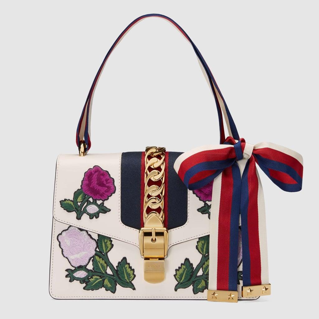 6fddc67e584b4 Gucci Sylvie Embroidered Small Shoulder Bag