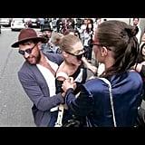 Gigi Fends Off an Attacker at Milan Fashion Week