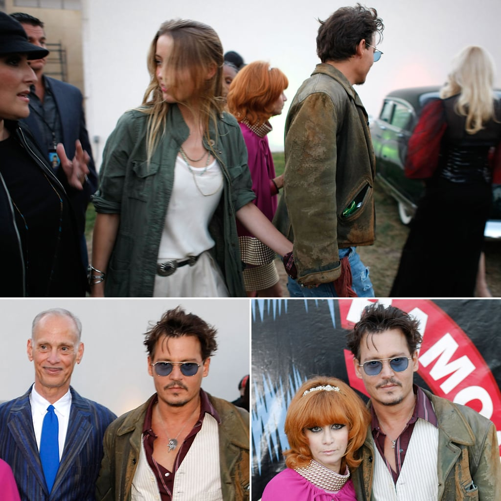 Johnny Depp and Amber Heard at the Johnny Ramone Tribute