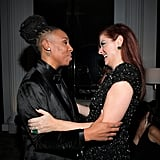 Lena Waithe and Debra Messing shared a sweet embrace after the 2018 award show.