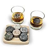 Sea Stones on the Rocks Granite Six-Piece Whiskey Chilling Stones Set