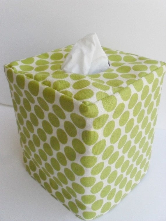 Switch it up: With the Green Reversible Tissue Box Cover ($11), you can go with green polka dots one day and blue polka dots the next.