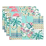 Set of Four Vintage Palm Collage Placemats