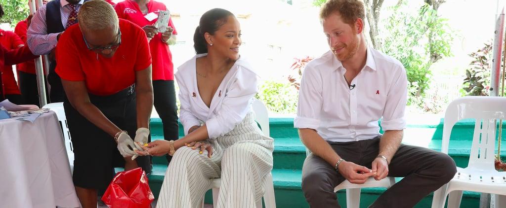 فيديو ريانا تمازح الأمير هاري 2016