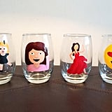 Emoji stemless wine glass set of four ($50)