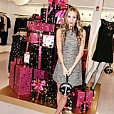 Harley Viera-Newton in DVF at Diane von Furstenberg's holiday capsule collection launch.