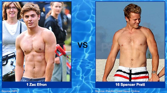 Shirtless Pictures of Zac Efron and Spencer Pratt