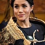 Meghan Markle Wearing a Korowai in New Zealand Oct 2018