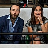 Although Kate Middleton couldn't be there, her siblings, Pippa and James Middleton, showed support for Harry on Friday.