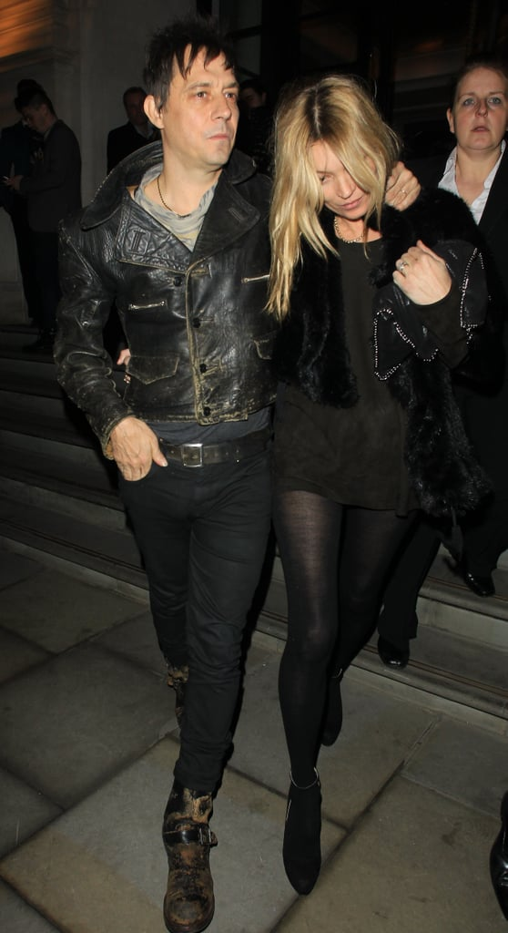 Kate Moss and Jamie Hince headed home from London Fashion Week.