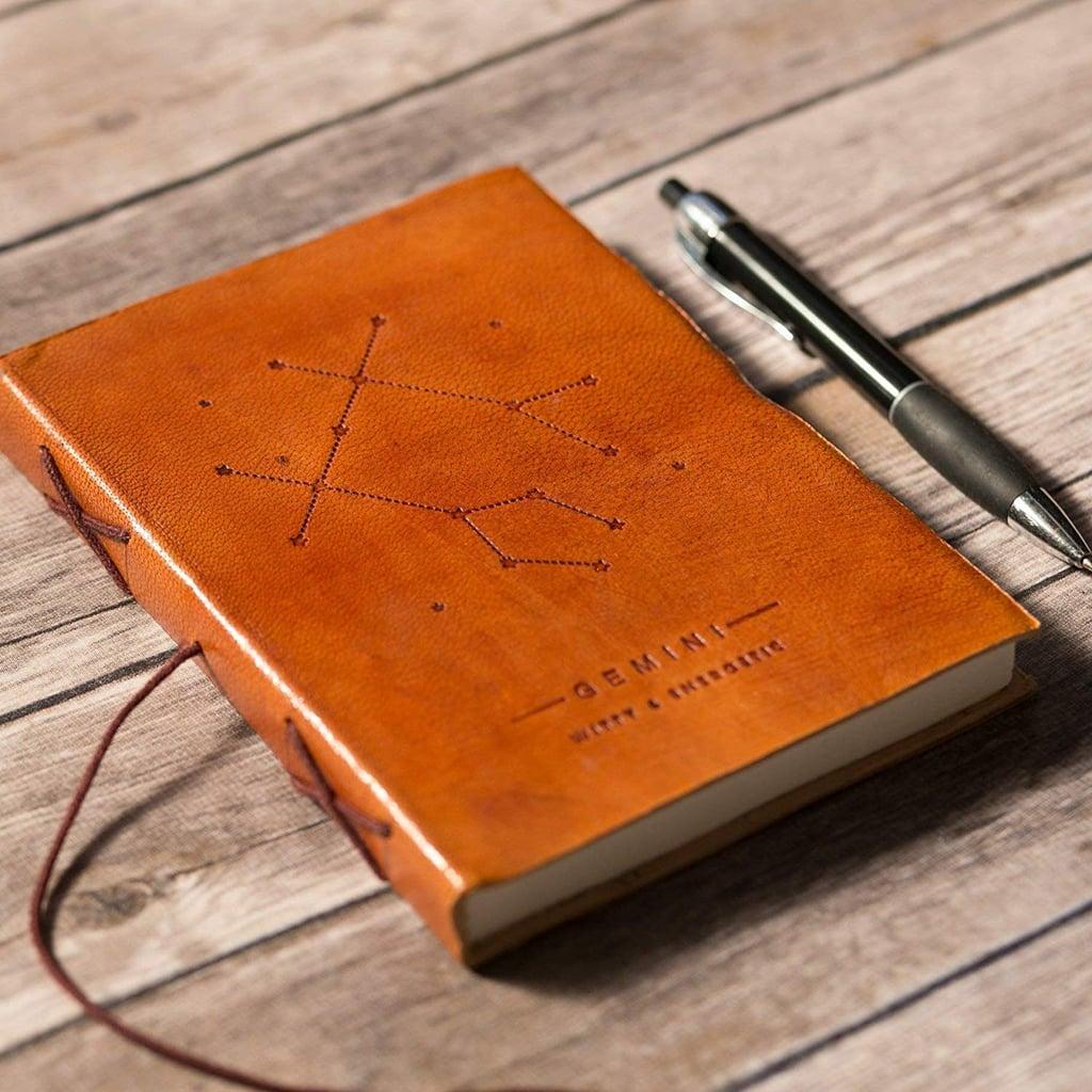 Gemini Handmade Zodiac Leather Journal