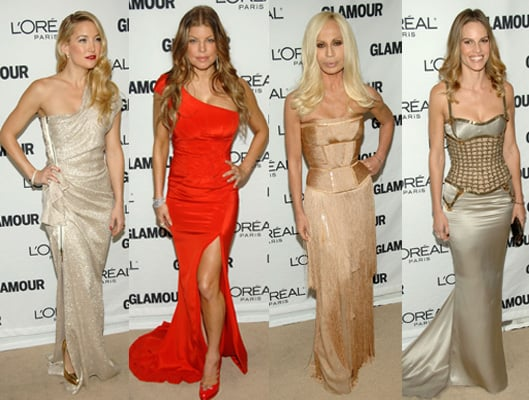 Girl Power! Celebrities support Glamour Magazines 2010 Women of the Year Awards, including Julia Roberts, Kate Hudson and Fergie