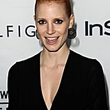 Jessica Chastain was all smiles on the red carpet heading into the InStyle and HFPA party.