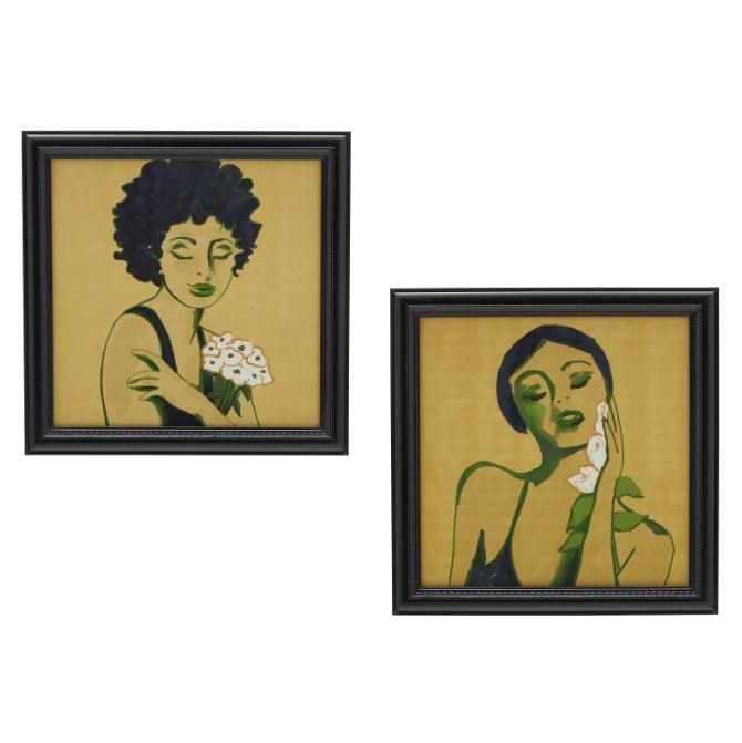 Flower Women, Set of 2 Prints