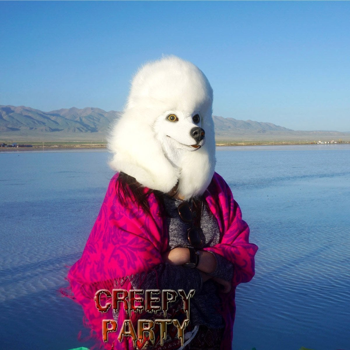 Take Your Creepy Pet Obsession to New Heights With This Real-Looking Poodle Mask