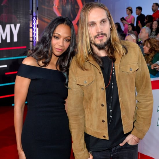 Zoe Saldana and Marco Perego at the 2015 Latin Grammys