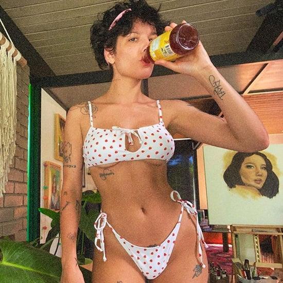 Halsey's Strawberry Polka-Dot Kendall + Kylie Bikini