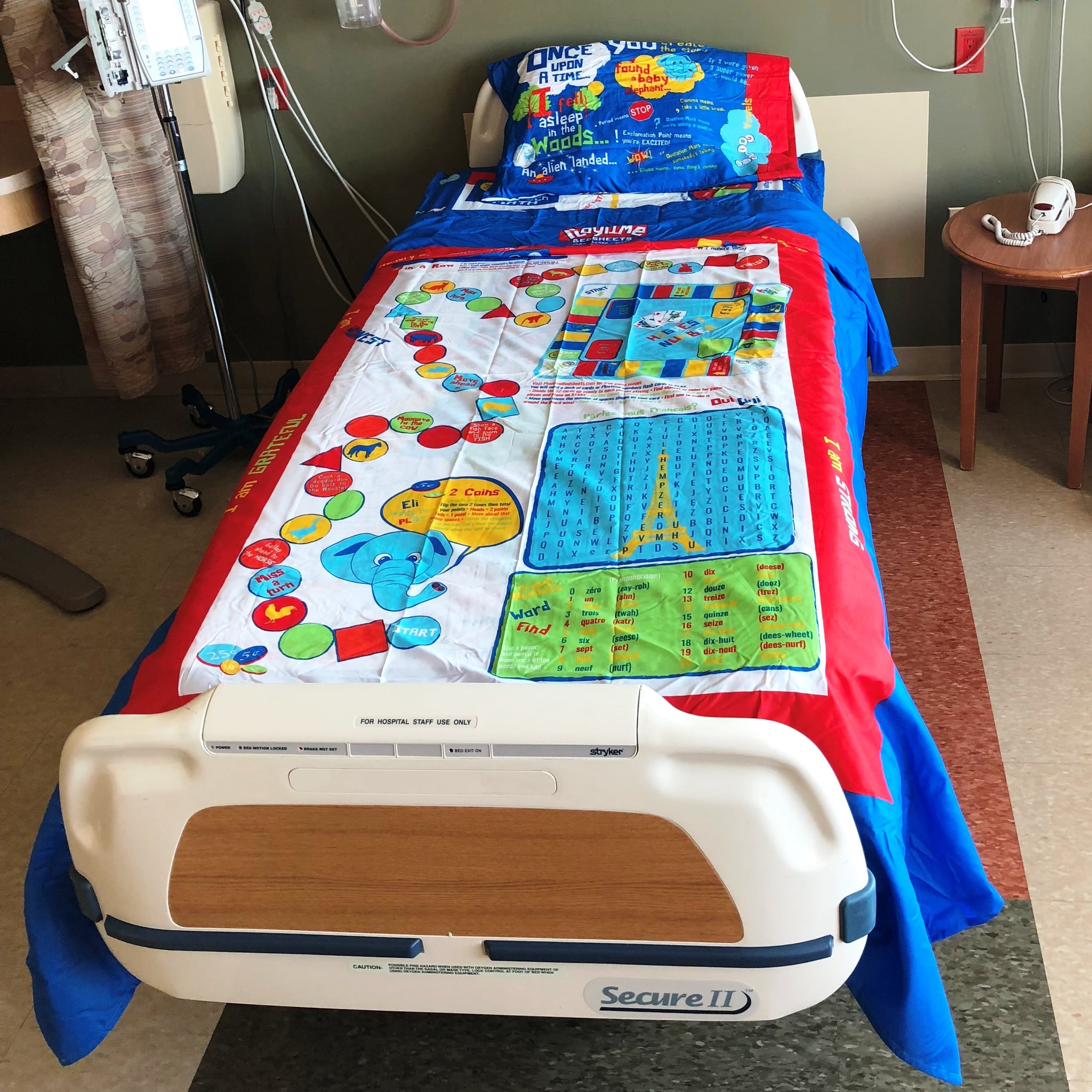 Game Of Love Sheets dad creates board game bed sheets for kids | popsugar family