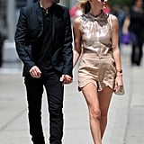 Kate Bosworth and Michael Polish stayed close during a stroll through NYC.