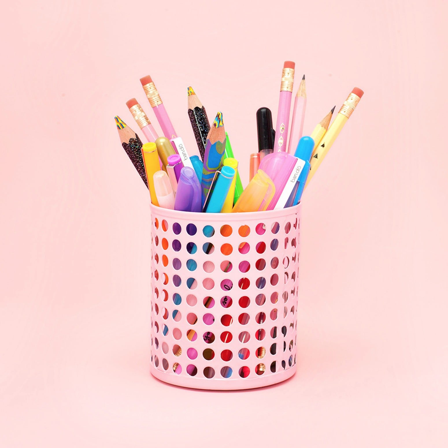 pencil holder pink girl office baby decor accessories room organizer gift blush pin desk
