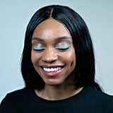 Pop of Pastel Makeup Trend: Bright Lines (After)