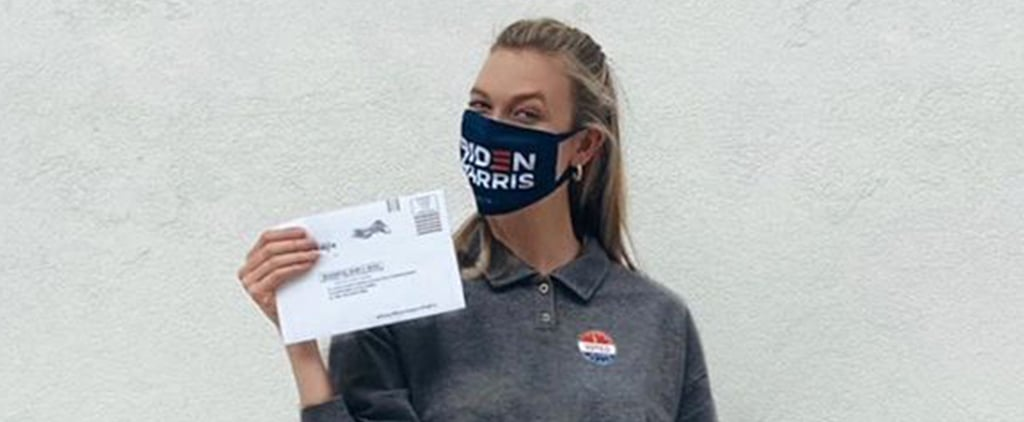 Karlie Kloss Wore a Biden-Harris Mask to Vote