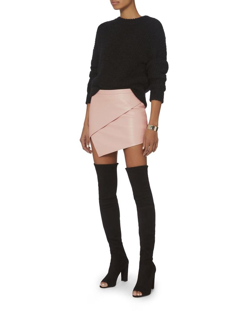 Mason Leather Contrast Skirt Best Seller Cheap Online yUWJT