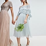 Maya Embellished Bardot Layered Midaxi Dress