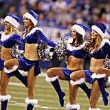 The Indianapolis Colts cheerleaders have their own take on Santa suits.
