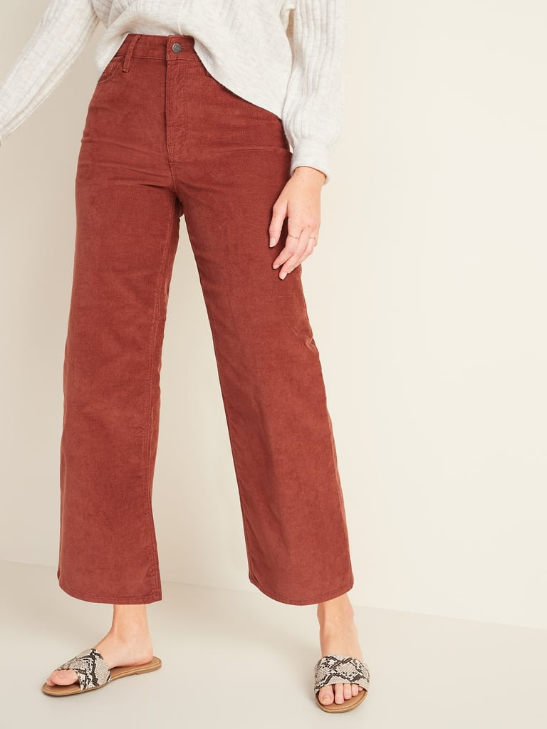 Old Navy Extra High-Waisted Wide-Leg Corduroy Crop Pants