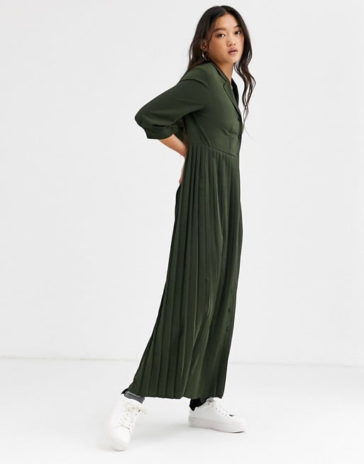Selected Femme Pleated Maxi Dress