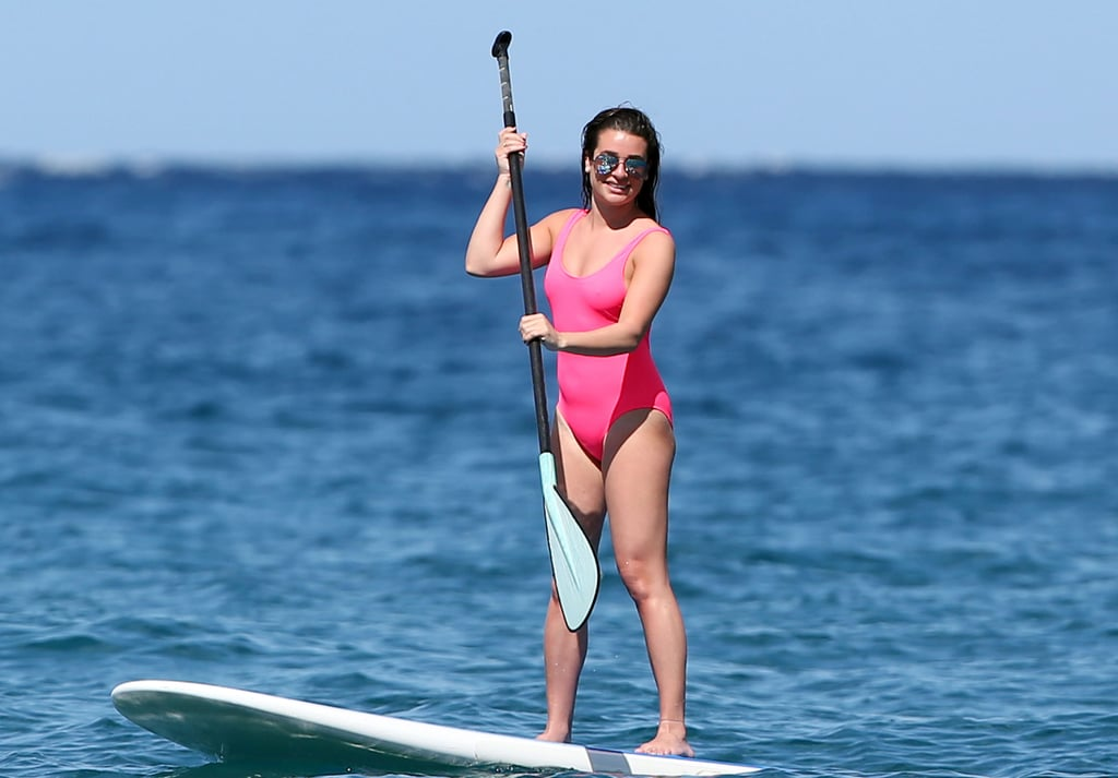 Lea Has This Swimsuit in Both Black and Pink