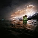 A pair of lovebirds got close in the waters of Rio de Janeiro, Brazil.