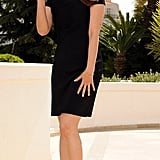 Indian beauty Aishwarya Rai opted for a classic LBD and T-strap sandals.