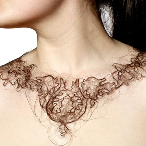 Necklaces Made of Human Hair by Artist Kerry Howley