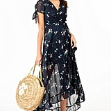 Francesca's Aria Floral Wrap Mid Dress
