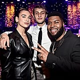 Dua Lipa, Anwar Hadid, and Khalid at Clive Davis's 2020 Pre-Grammy Gala in LA