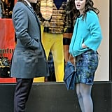 Leighton Meester and Ed Westwick filmed a scene for Gossip Girl.