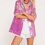 Missguided Holographic Rain Mac ($45)