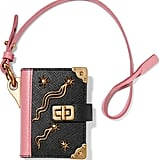 Prada Embellished Textured-leather Keychain