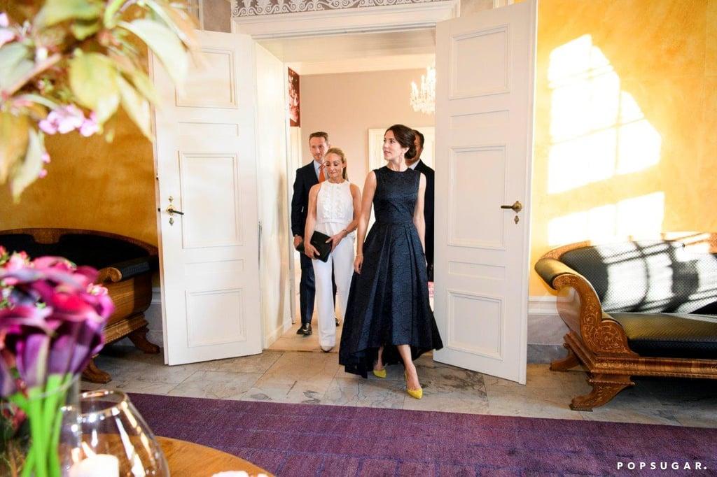 Princess Mary Wearing a Black Dress May 2016