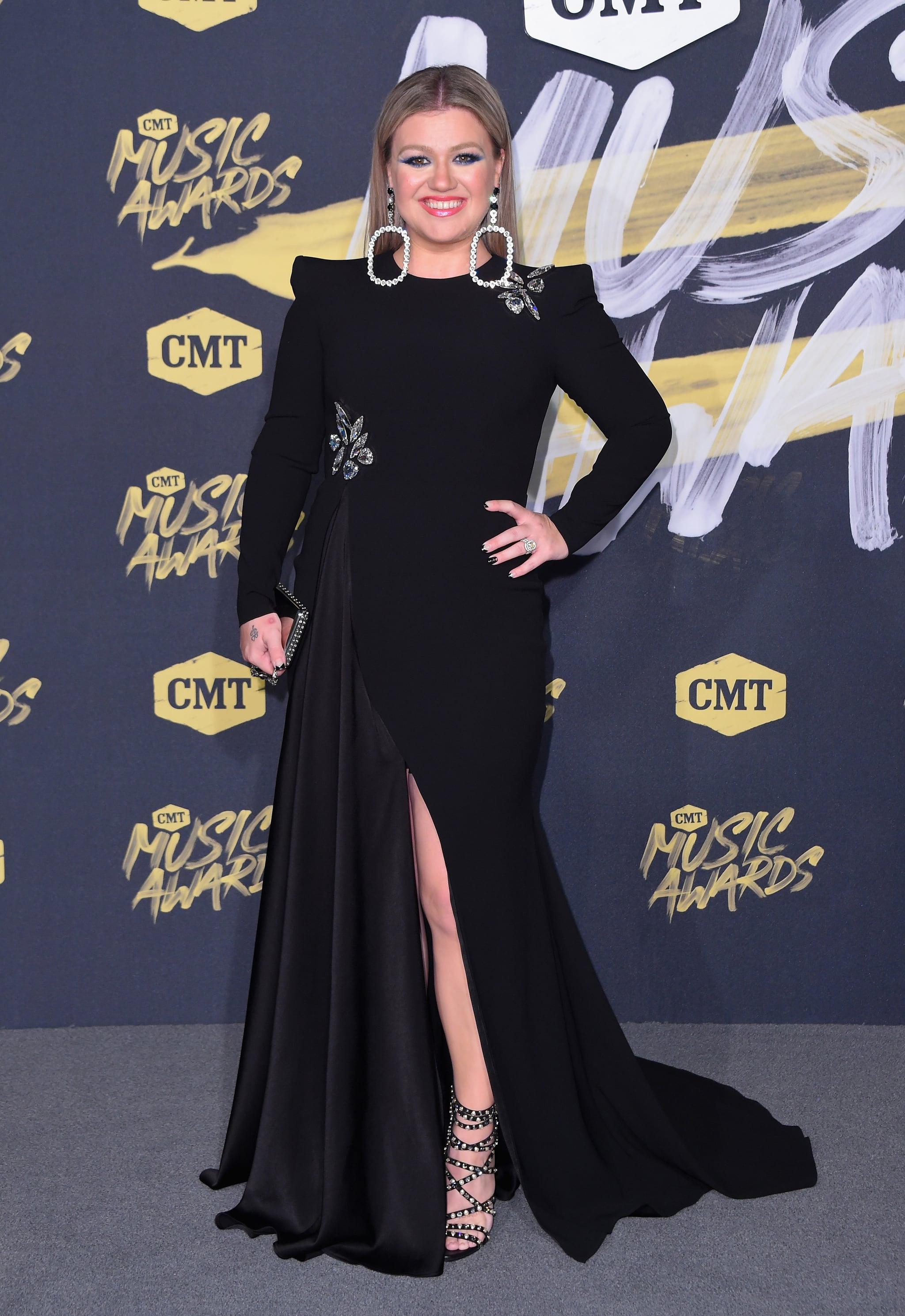 NASHVILLE, TN - JUNE 06:  Kelly Clarkson attends the 2018 CMT Music Awards at Bridgestone Arena on June 6, 2018 in Nashville, Tennessee.  (Photo by Michael Loccisano/WireImage)