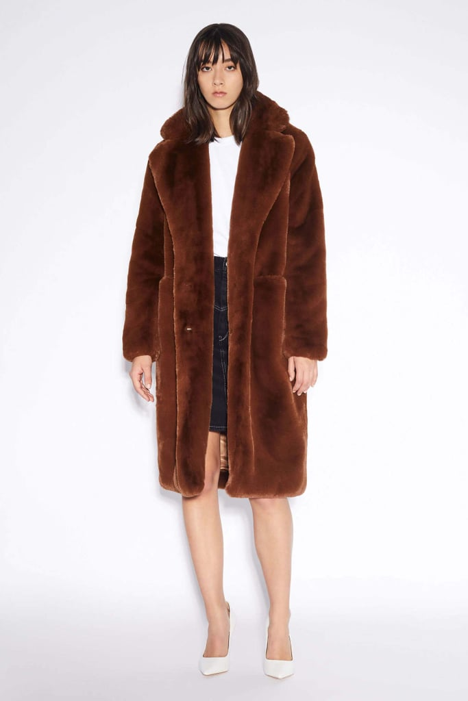 Apparis Laure Chocolat Faux-Fur Coat