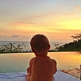 Vivian Brady took in the most beautiful sunset one evening. Source: Instagram user giseleofficial