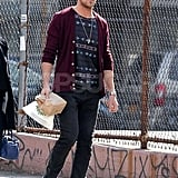 Ryan Gosling headed out for lunch in NYC.
