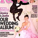 Jessica Biel wed longtime love Justin Timberlake in a pale pink Giambattista Valli gown fit for a princess. The gown was all part of a dreamy ceremony that took place in October in Southern Italy.