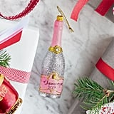 Rose Champagne Glass Ornament
