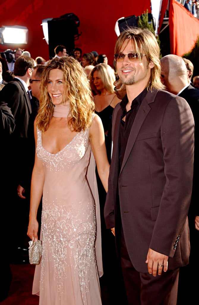 Jennifer Aniston and Brad Pitt at the 2002 Emmy Awards