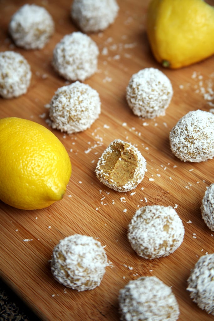 Lemon coconut protein balls 150 calorie snack recipes popsugar lemon coconut protein balls forumfinder Image collections